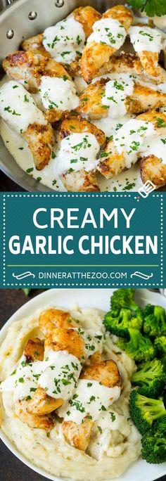 Creamy Garlic Chicken Recipe | Chicken Breast Tenders | Sauteed Chicken #chicken #garlic #parmesan #dinner #glutenfree #keto #lowcarb #dinneratthezoo
