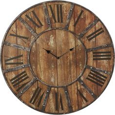 "Oversized Meriwether 24"" Metal Wall Clock"