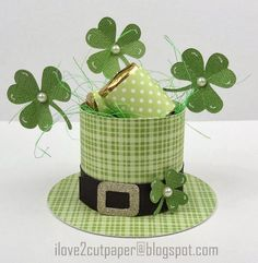 i love 2 cut paper: St Patrick's Day - Party Favor Hat