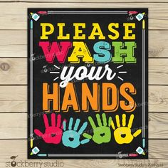Wash Your Hands Sign Printable - Kids Bathroom Art - Wash Hands Sign - Classroom Sign - Teacher Classroom Decor - Classroom Rules Teacher Classroom Decorations, Classroom Layout, Classroom Signs, School Chalkboard, Chalkboard Signs, Kids Bathroom Art, School Bathroom, Hand Washing Poster, 1st Day Of School