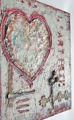 L'artiste texture painting (For The Love Of Art) by Esther Orloff