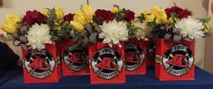 Custom Order Table Centerpieces for Fireman's Ball by Randi Sheldon at Michaels 1600