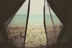 Camping on the beach...maybe Orange Beach or one of the white sandy beaches