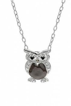 Black Diamond Sterling Silver Necklace - Enviius - want want want!