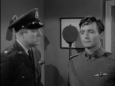 """""""The Last Flight"""" -- A World War I British fighter pilot lands at an American Air Force base in France 42 years in the future. -- (The Twilight Zone, S1/E18: directed by William F. Claxton, written by Richard Matheson), starring Kenneth Haigh, Alexander Scourby, and Simon Scott."""