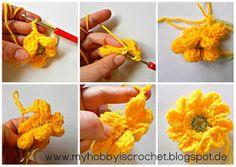 crochet flower dahlia free