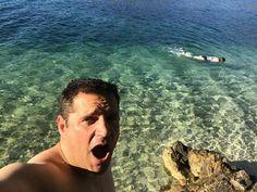 Amazing waters in Slano , Amanda doing a great fish impression 😅 #holidays #slano #croatia #seaswimming #clearwaters #adriaticcoast @croatiafulloflife