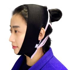 LIYONG Facial Weight Loss Shoulder Strap Anti-Wrinkle Facial Slimming Cheek Mask Chin Lift Face Waist Chin Skin Care Strap (Color : Black) * Check out the image by visiting the link. (This is an affiliate link)