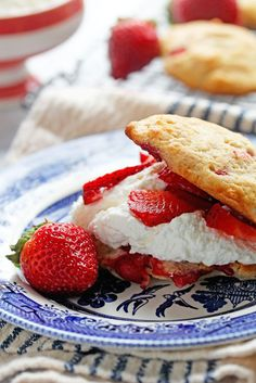 Strawberry Shortcakes Made with Strawberry Biscuits! mom
