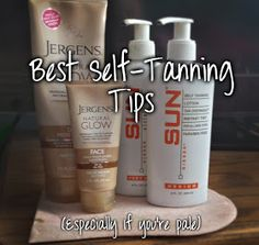 My best self tanning tips! Jergens Natural Glow review! These work great for everyone and even better if you're pale!