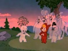 "The main characters include Casper the Friendly Ghost, Wendy the Good Little Witch, Nightmare the Galloping Ghost, and the troublemaking Ghostly Trio, who create many of the problems in Casper's adventures. For example in ""Mother Goose Land,"" the Ghostly Trio runs amok in Mother Goose Land, and it's up to Casper and Wendy to stop their ""fun.""  Like Casper the Friendly Ghost, Wendy is an opposite-type character, a girl witch who does good deeds."