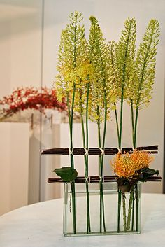 mini forest flower arrangement ikebana