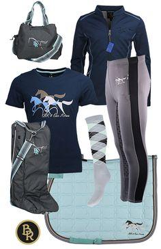 BR 4 ever horses Cool Mint Dark Grey #shopthelook #horsefashion #epplejeck #br #horses #summer
