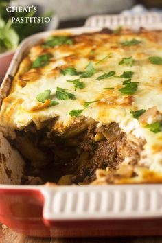 Cheat's pastitsio with a yoghurt topping