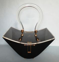 RARE Vintage Acrylic Lucite Purse very unique design Vintage Purses, Vintage Bags, Vintage Handbags, Vintage Items, Vintage Outfits, Vintage Shoes, Luxury Handbags, Fashion Handbags, Purses And Handbags