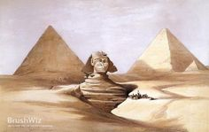 Head Of The Great Sphinx, Pyramids Of Geezeh by David Roberts - Oil Painting Reproduction - BrushWiz.com
