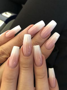 french nails spring Beauty in 2020 White Acrylic Nails, Summer Acrylic Nails, Best Acrylic Nails, Acrylic Gel, French Manicure Acrylic Nails, Metallic Nails, Pink Nail, Gel Nail, Glitter Nails