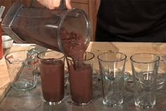Healthy Substitutions: Chocolate Smoothie Dessert