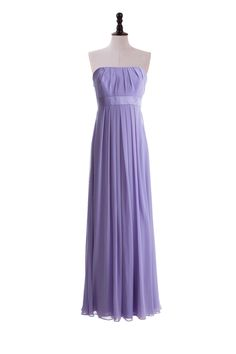 Strapless Chiffon Gown with Empire Waist