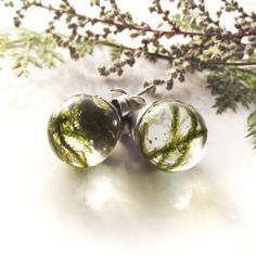 Zöld moha pontfülbevaló Pearl Earrings, Pearls, Jewelry, Pearl Studs, Jewlery, Jewerly, Beads, Schmuck, Jewels