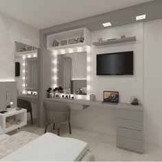 Room Design Bedroom, Small Room Bedroom, Room Ideas Bedroom, Home Decor Bedroom, Dressing Room Decor, Beauty Room Decor, Bedroom Decor For Teen Girls, Stylish Bedroom, Cozy Room