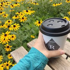 Enjoying my latte while working outside on this beautiful day! #exhibitpink #Monday #workgrind #rowstercoffee #eastown #grandrapids #graphicdesigner #september #itsstillsummer #flowers