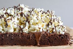 Buttered popcorn brownies? Yes, please!