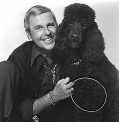Paul Lynde and his pooch. They totally enjoyed the Poodle Peace Parade.