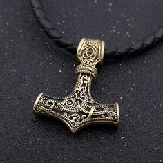Mjolnir, Thor's hammer and badge of office is one of the most fearsome and powerful weapons in existence, capable of leveling mountains in a single strike. Although most famous for its use as a weapon, Mjolnir plays a vital role in Norse religious practices and rituals, being used to bless marriages, births, and funerals.