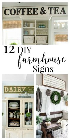 12 amazing DIY farmhouse sign ideas.  Are you looking for some inspiration for your next project? | http://Twelveonmain.com