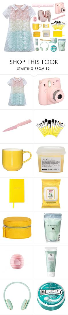 """""""about me tag//RTD"""" by ajlutz04 ❤ liked on Polyvore featuring Fujifilm, Kuhn Rikon, ASA, Davines, Smythson, Burt's Bees, Eos, Origins and country"""