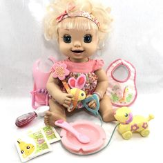 Details about Hasbro Soft Face Baby Alive Doll Works 2007 Learn To Potty Talking Baby - List of the most beautiful baby products Baby Alive Dolls, Baby Dolls, Toys For Girls, Girl Toys, 1980s Toys, W Dresses, Dream Baby, Baby List, Barbie