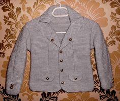 5 yaş örgü erkek çocuk ceketi