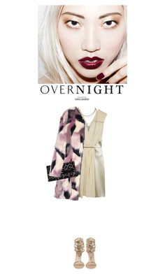 """Overnight: Gold Sandals"" by junglover ❤ liked on Polyvore featuring Christopher Kane, Giuseppe Zanotti, Scott Kay, Nina Ricci and Diane Von Furstenberg"
