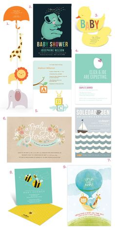 April Showers Bring Baby Showers! Cute Baby Shower Invitations
