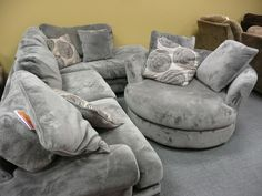 The accent swivel chair that matches the Groovy Sectional ...