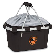 Picnic Time Baltimore Orioles Insulated Picnic Basket, Black