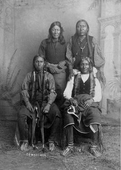 Comanche men - circa 1890