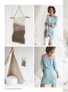 Простое и элегантное платье от Crochet