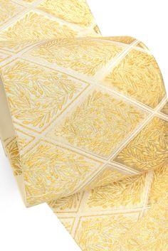 【龍村美術織物】 特選西陣袋帯 本袋 六通柄 「瑞祥松菱文・白」 ☆龍村、逸品クラスを!|京都きもの市場