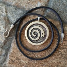 Spiral Snake Necklace spiral snake pendant spiral snake by EricMT