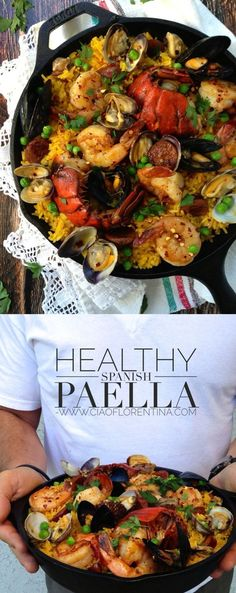 Healthy Spanish Paella Recipe | CiaoFlorentina.com