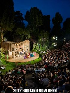 Regent's Park Open Air Theater, London. Showing A Midsummer Night's Dream while we are there.