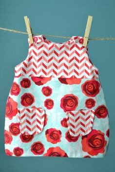 Rose baby dress free sewing pattern and tutorial