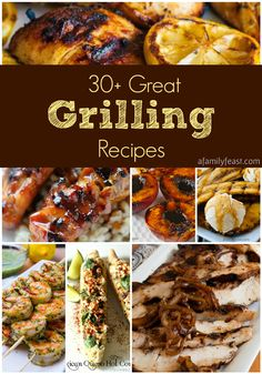 A collection of 30-Plus Great Grilling Recipes - From meats, to vegetables to salads - even dessert! This is a great collection of delicious recipes!