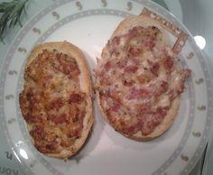 Rezept Pizzabrötchen / Pizzatoast von Maneli2002 - Rezept der Kategorie Hauptgerichte mit Fleisch