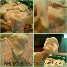 DIY Fabric flower bouquet :  wedding bouquet diy fabric flowers ivory pink Finaltuto9