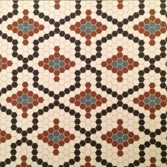 """A Made-to-Order Hex Mosaic Floor using 1""""in hex tiles"""