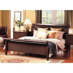 4 Piece Victorian Renaissance Cherry King Sleigh Bed Bedroom Set Bedroom Sets Sleigh Beds And