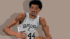 San Antonio Spurs and ABA legend George Gervin could score with the best of them and had the meanest finger roll you will ever eyeball in your life.